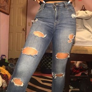 Hollister distressed high waisted jeans